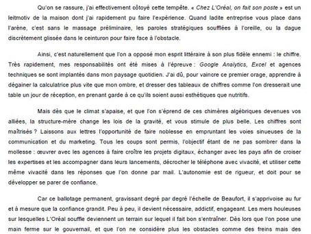 2014 - Rapport d'étonnement L'ORÉAL