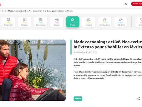 "2021 - Auchan International - Article de Blog - ""Mode cocooning : activé. (...)""."
