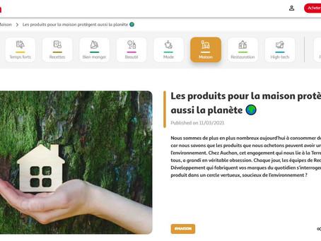 """2021 - Auchan International - Article de Blog - """"Produits pour la maison qui protègent la planète"""""""