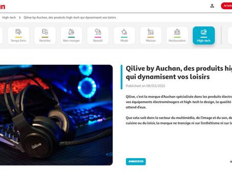 """2021 - Auchan International - Article de Blog - """"Des produits high-tech qui dynamisent vos loisirs""""."""