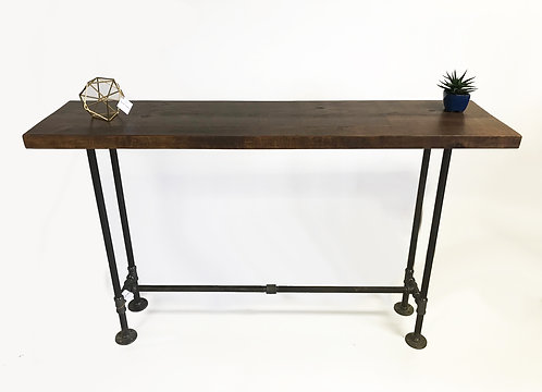 """1 1/2"""" Solid Reclaimed Pine Wood CONSOLE TABLE"""