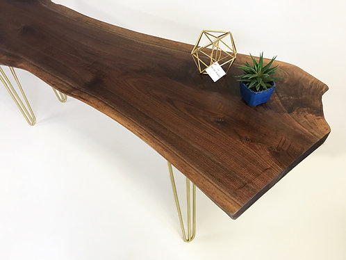 "1 3/4"" Live Edge Solid Walnut Wood OFFICE DESK"