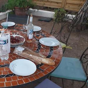 Villa PaulAna table barbecue
