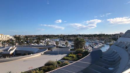 Port Ambonne vue terrasse Village naturiste Cap d'Agde