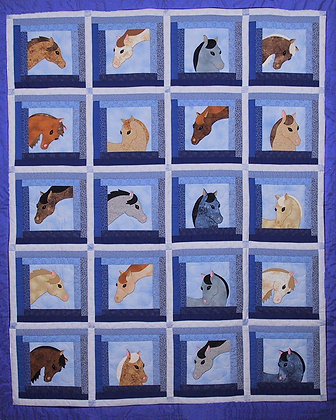 Blue Ribbon Day  FYT 405  Applique Quilt Pattern