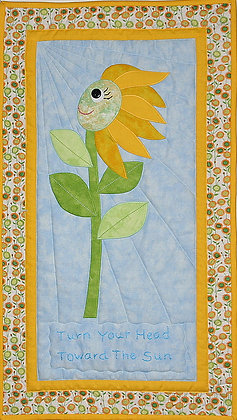 Turn Your Head To The Sun  FYT 953  Applique Quilt Pattern