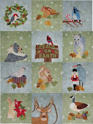 Christmas Garden  FYT 9001 Applique Quilt Pattern