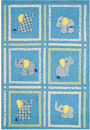 And Baby Makes Six..  FYT 204  Applique Quilt Pattern