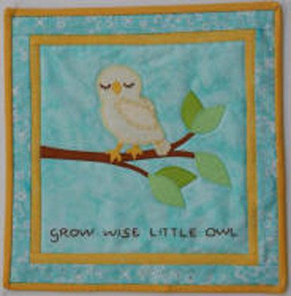 Grow Wise Little Owl  FYT 955  Applique Quilt Pattern