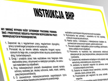 Instrukcje BHP i PPOŻ