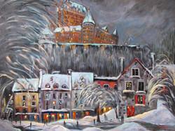 Vieux Québec sous la neige