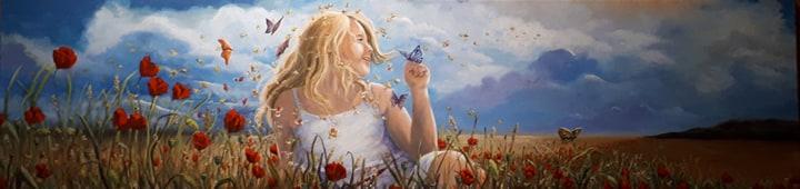 La petite fille aux papillons