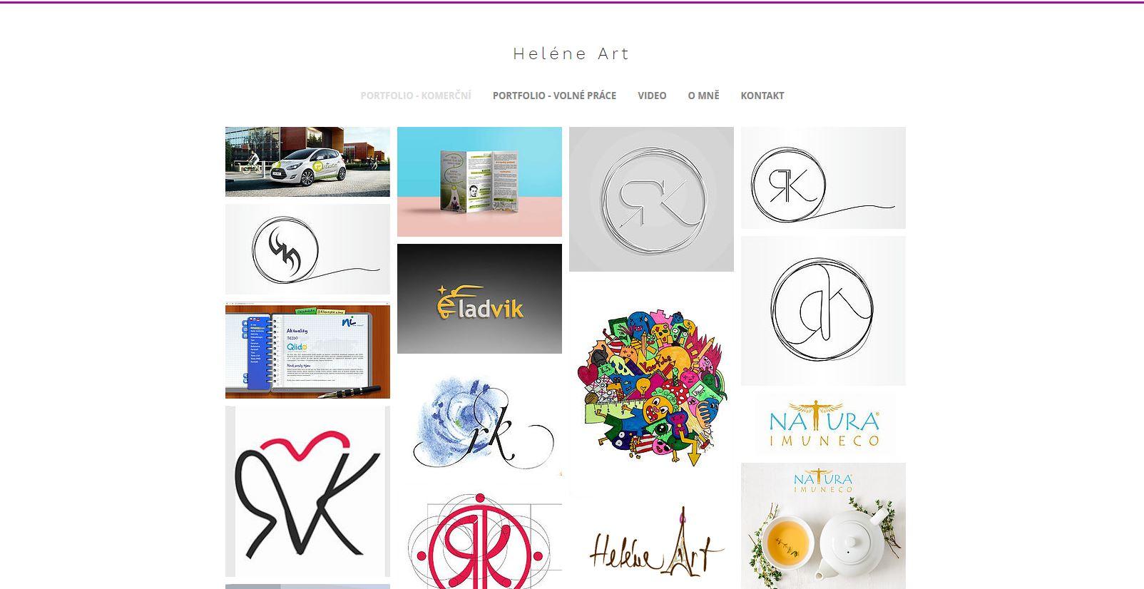 webové stránky Helene Art