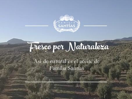 Así de natural es el aceite de oliva virgen extra de Familia Santías