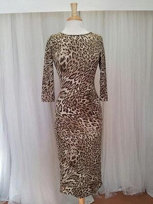 Brown Cheetah Bodycon Dress