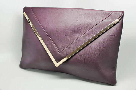 Leather Oversized Clutch Bag