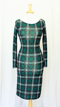 Green Plaid Dress