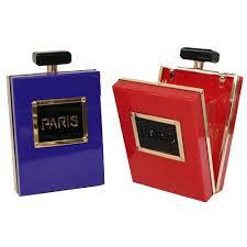 Paris Perfume Clutch Purse