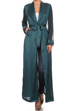 TEAL SILK DUSTER