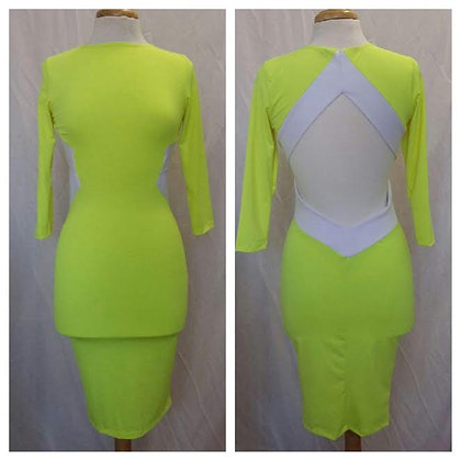 Neon Lemondrop Spandex Dress