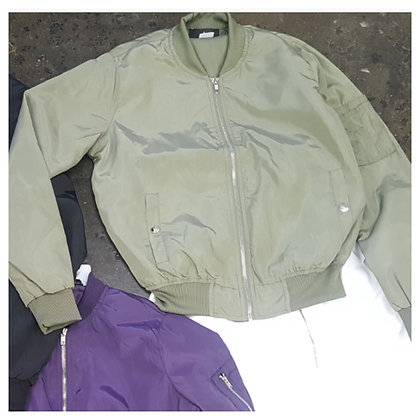 OLIVE MEMBERS ONLY BOMBER