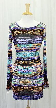 Brick Multi-Colored Short Dress