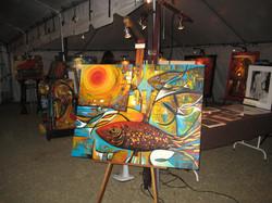 Felix Murillo at Feria de Arte, Jaco