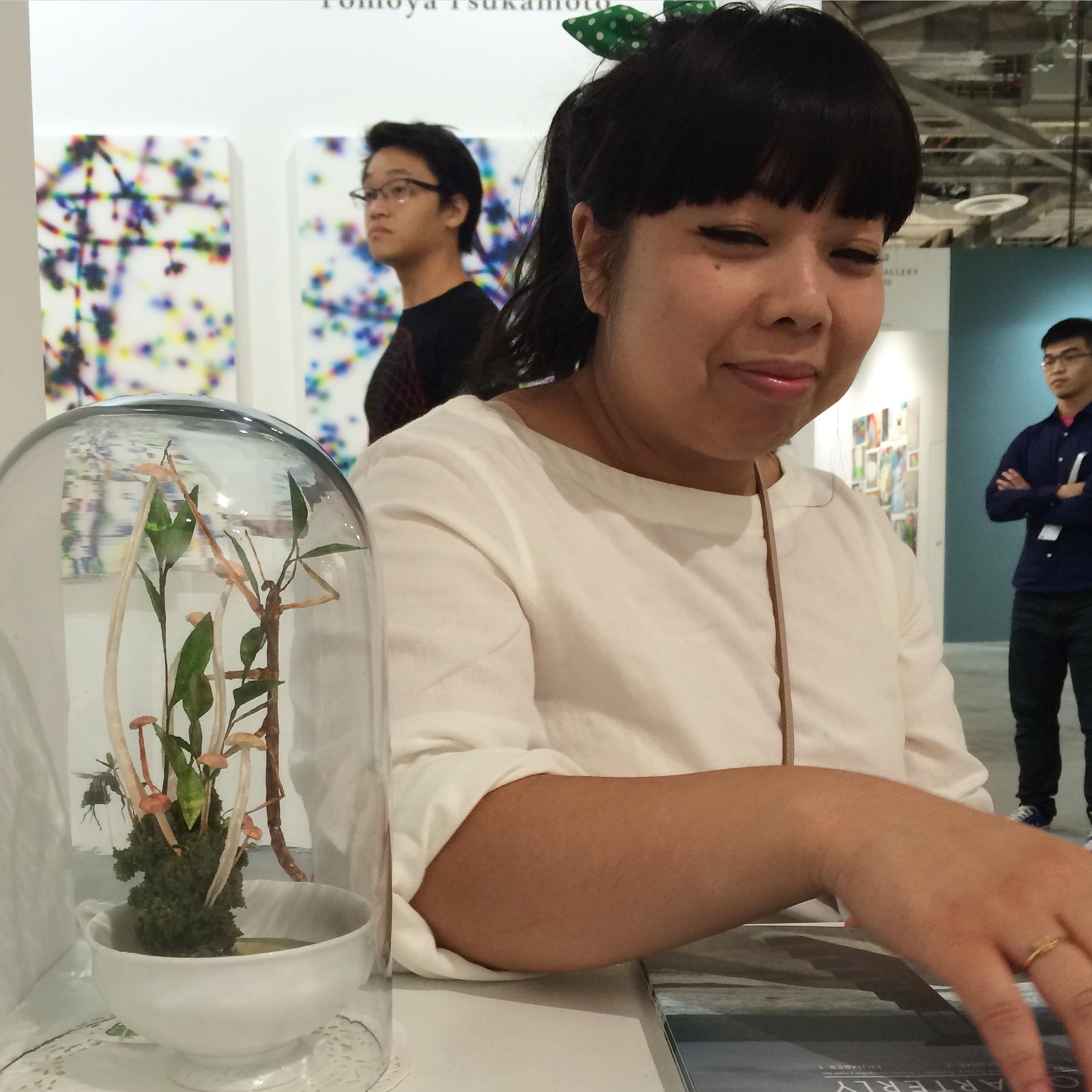 Mylyn Nguyen with her work
