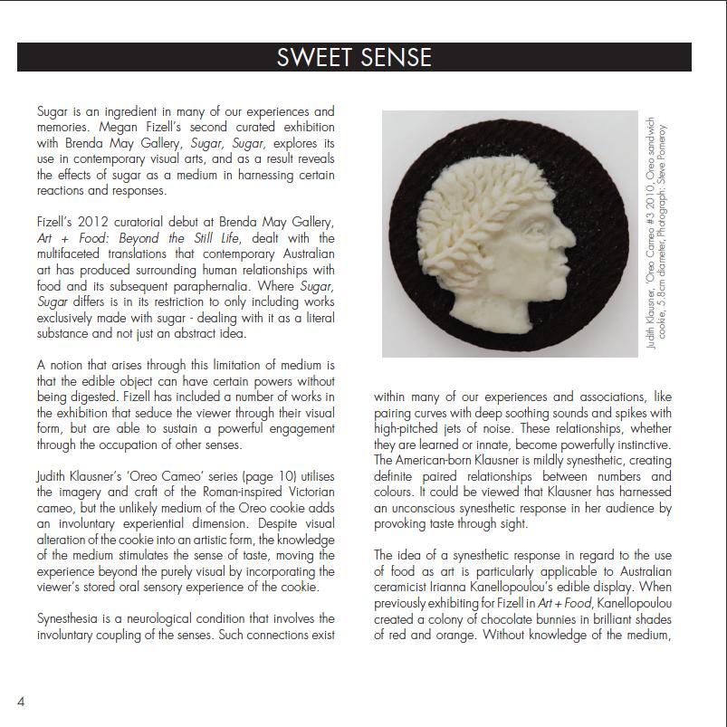 Sweet Sense: catalogue essay