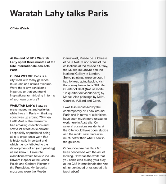 Waratah Lahy Talks Paris
