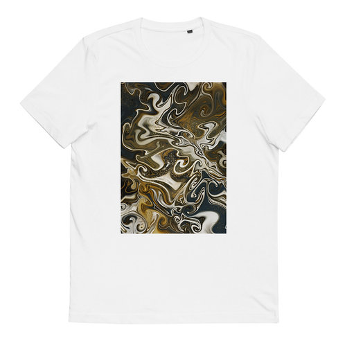 "Unisex Organic Cotton T-Shirt ""Marbling #10"""