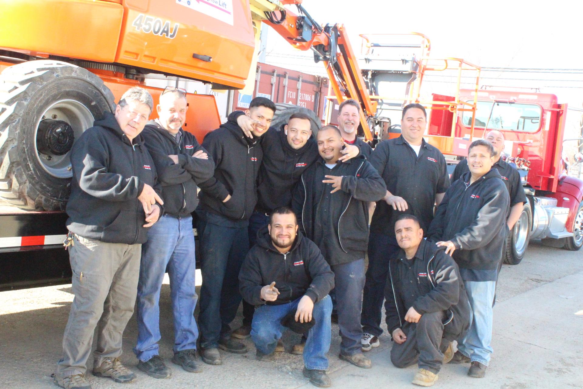 The whole crew