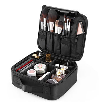 Inlife BB040 Makeup Bag Cosmetic Train Case Portable Travel Organizer Toiletry Kit