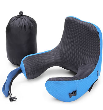 Inlife KH - 694 Travel Pillow Long Haul Foam Office Soft Cushion with Detachable Hood