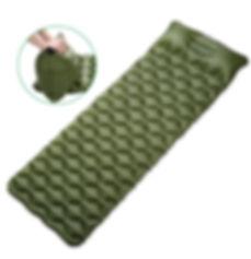 Air Mattress with Integral Pillow Manual Air Pump
