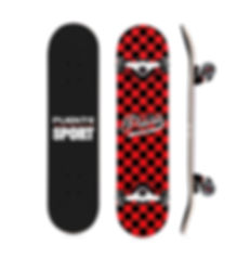 Four-wheel Maple Skateboard