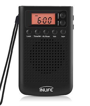 Inlife PR - 209 Multi-use Pocket Radio AM / FM Receiver for Walking / Travel