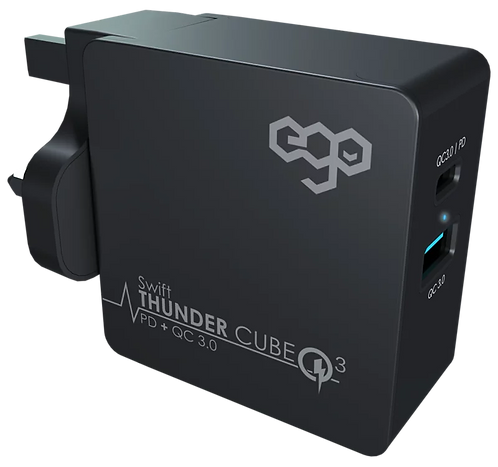 EGO Thunder Cube Travel Charger 43W, PD 27W, QC 3.0