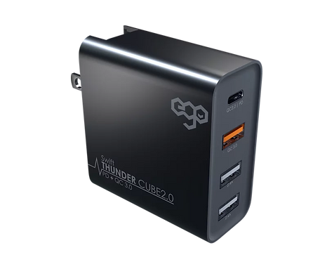 EGO Thunder Cube 2.0 50W, PD 30W, QC 3.0, USB 2.4A Travel Charger