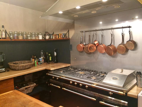 Our renewed kitchen with a beatiful Lacanache Fontenay