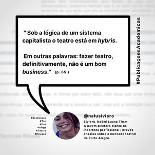 A jovem diretora diante da incerteza profissional : breves ensaios sobre o mercado teatral de Porto Alegre