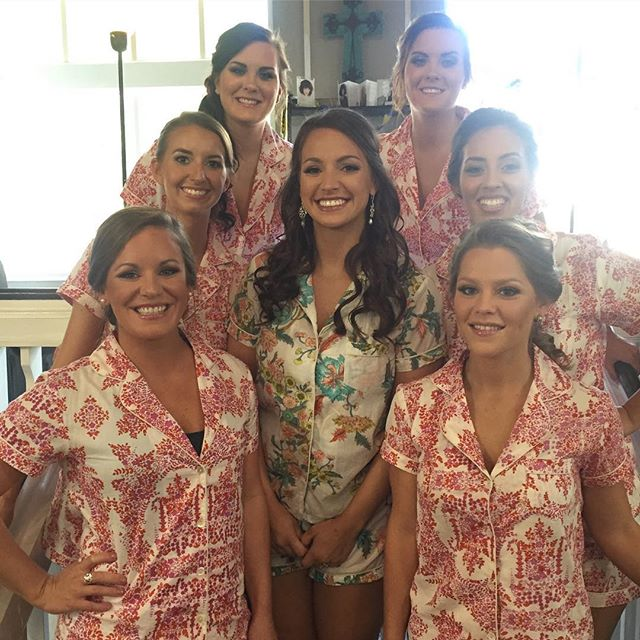 Loved this beautiful wedding party! #mua