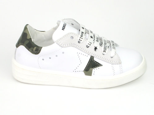MORELLI/51296/sneaker wit accent camouflage op hiel/ster