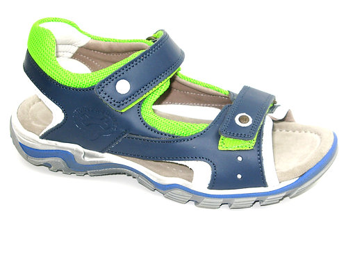 STONESANDBONES/junto/sandaal sportblauw acc fluo groen
