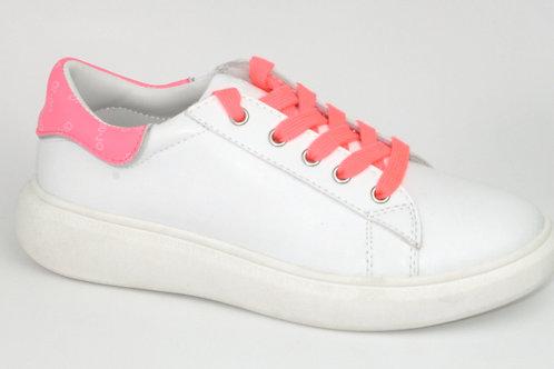 LIU JO/greta 97/sneaker wit acc fuxia op hiel
