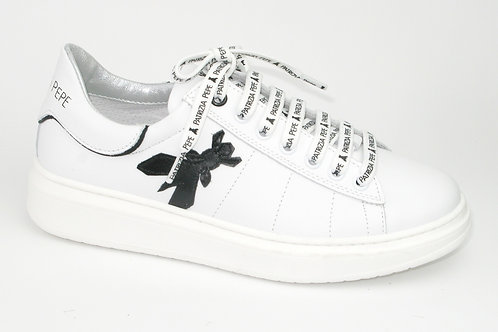 PATRIZIA PEPE/PPJ51/sneaker wit leder embleem