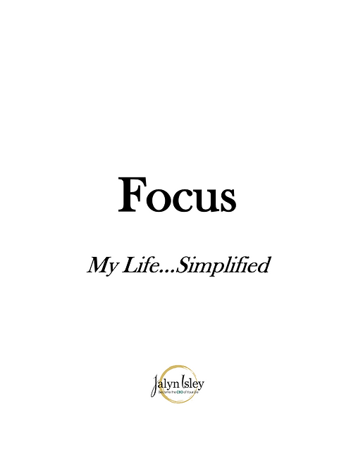 My Focus Planner (Printable)