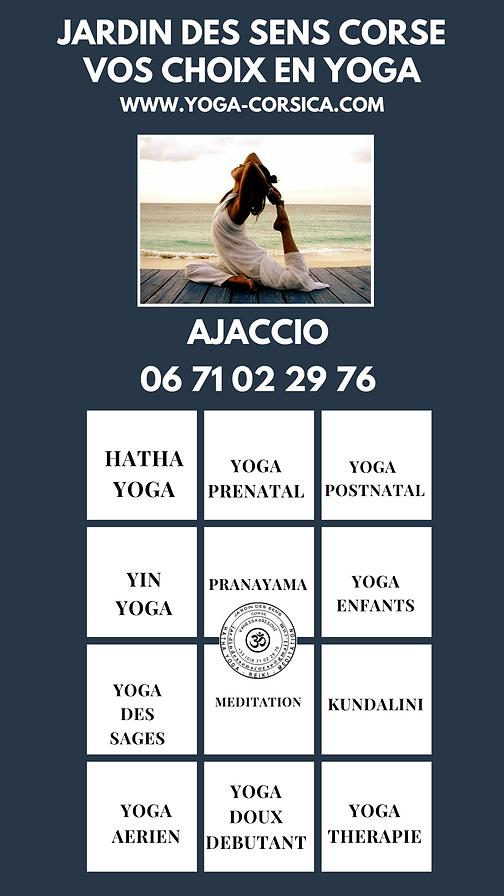 jardin des sens ajaccio quel yog pratiquer