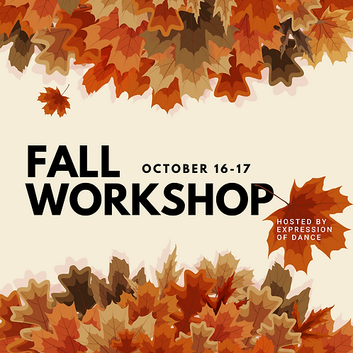 Registration Payment for Fall Workshop at EOD - SUN ONLY 10/17