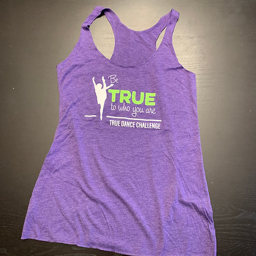 TDC Adult Racer Back Tank Purple